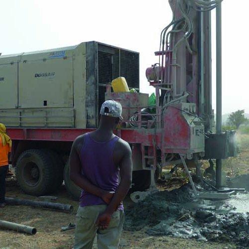 Brunnenbau in Ghana