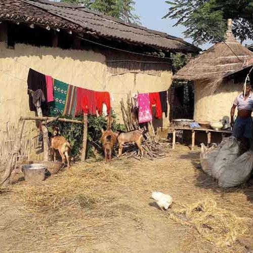 Dorf in der Rautahat-Region